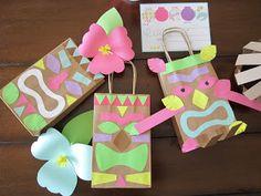 Luau Theme: design sprinkle: Homemade Luau Party Paper Bag Tiki Guy!