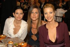 Pin for Later: 28 Award Show Moments That Will Make You Miss the Cast of Friends  The ladies posed for photos at their table during the SAG Awards in 2003.