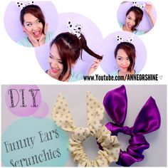 DIY Bunny Ears Scrunchies {TopShop}   lifestyle