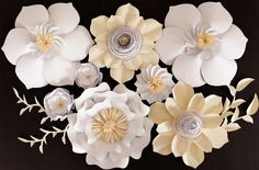 Paper Flower Backdrop, Wedding Centerpiece, Giant Paper Flowers by APaperEvent on Etsy https://www.etsy.com/listing/460510628/paper-flower-backdrop-wedding