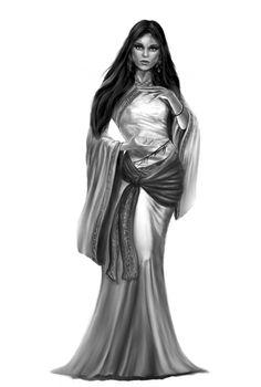 Female tulamidian Mage casting a light spell by Ghosthornet.deviantart.com on @DeviantArt