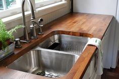 If you're considering natural wooden countertops for your kitchen renovation, check out this great article.