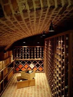 Relaxing therapy: wine cellar