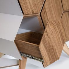 furniture design Komoda HONEYCOMB MCASES Furniture hexagon wooden drawers and rack cabinet storage for your room