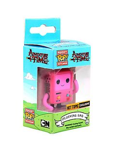 Adventure Time Blushing BMO Pocket Pop keychain by Funko, Hot Topic exclusive