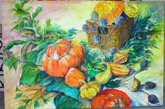 MARROWS AND GOURDS. My original acrylic painting prints available from easyart.com