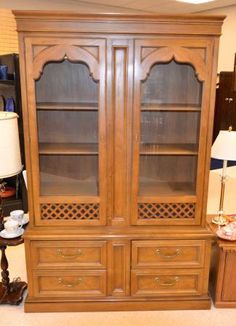 All The Dishes, Crystal And Silverware Necessary For A Downton Abbey  Luncheon Will Fit In This Well Made China Cabinet. It Can Be Inspected At  Our New ...