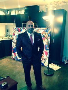 Jason Grech prefers his LGFG Fashion House bespoke suit striped. As The Godfather himself. Sharp.