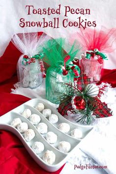 Toasted Pecan Snowball Cookies make the perfect edible gifts for your loved ones during the holiday season.