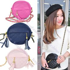 2013 Fashion Women's Girls lady's PU Handbag Leather messenger bag Circle Small Bag Tassel Shoulder Bags 5058 US $7.00 - 8.10