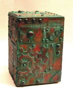 Steampunk Style Steampaux Assemblage Treasure Box. $54.00, via Etsy.