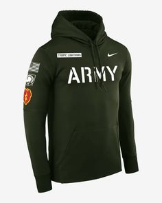 Nike College Therma (Army) Men's Pullover Hoodie. Nike.com