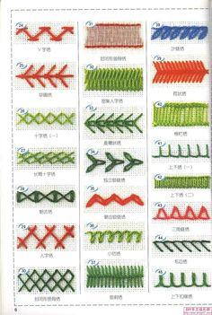 针法 刺绣 精致 手工 针法与组合(2)