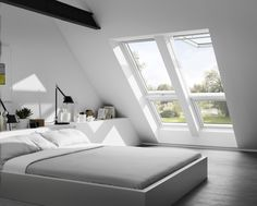 Running out of space? Why not make an extra bedroom or guest room loft solution with #daylight and #freshair?  Get inspired here: http://www.velux.com/products/be_inspired/gallery/bedroom