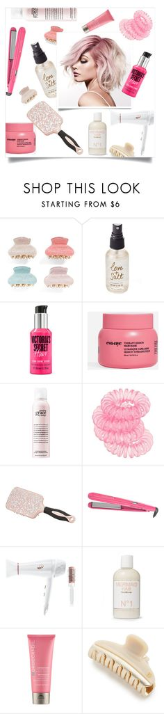 """Hair Affair"" by tina-pieterse ❤ liked on Polyvore featuring beauty, Tasha, Olivine, Victoria's Secret, Eva NYC, Miss Selfridge, Charlotte Russe, Remington, T3 and Liberty"