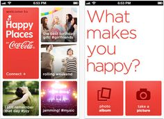 Coca-Cola Launches Happy Places, a New Branded Photo-Sharing Service – POPSOP.COM. Brand news. Brand design. Package design. Branding agencies. Brand experts