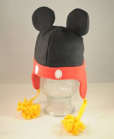 Mickey Mouse Inspired Character Fleece Hat door TheCraftEGalShop