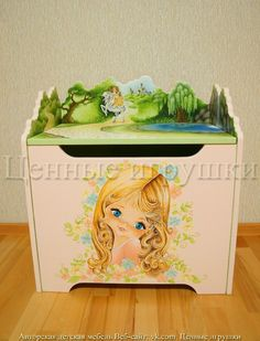Ящики для игрушек, идеи для детской, детская мебель, для девочек