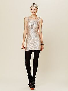 FreePeople Glam Life Dress. love with the black tights