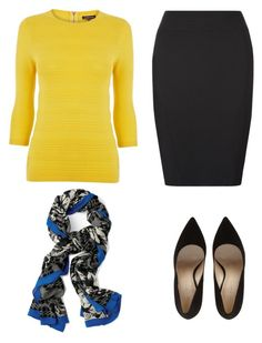 """Interview outfit"" by glamupparties ❤ liked on Polyvore featuring Warehouse and Stella & Dot"