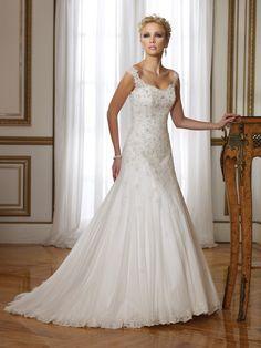 drop waist wedding dresses | Drop Waist Square Brush Train Ivory Wedding Dress H7st0065 for $1,096