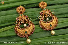 Indian Wedding Jewelry, Bridal Jewellery, Indian Jewelry, 1 Gram Gold Jewellery, Gold Jewelry, Golden Earrings, Drop Earrings, Most Beautiful Indian Actress, Ear Rings