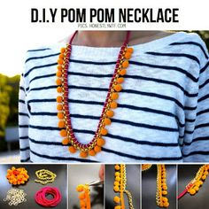 Hip Haakwerk: Pompon ketting tutorial
