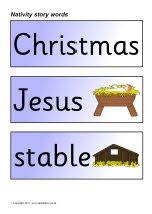 Nativity story word cards (SB516) - SparkleBox