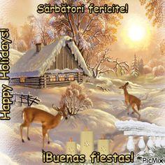 Sărbători fericite!w4 Horses, Happy, Painting, Animals, Fiestas, Animales, Animaux, Painting Art, Horse