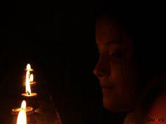 https://flic.kr/p/BjhNYv | Diwali face 2015 | Little face looking at Diya.