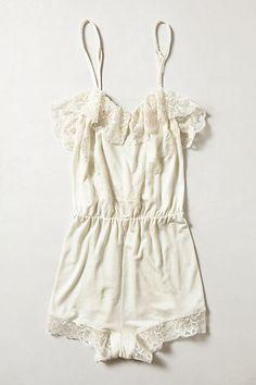 Perfeita noite úmida de verão pijama Eberjey Baunilha Laço de ursinho - / Perfect humid summer night jammies Eberjey Vanille Lace Teddy -