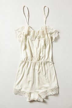 // vanilla lace romper by eberjey #anthrofave