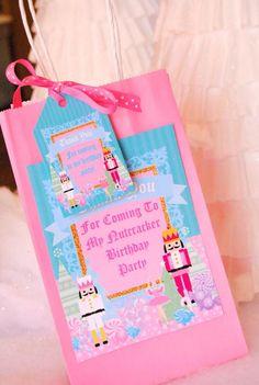 NUTCRACKER Birthday - Nutcracker THANK YOU Tags - Nutcracker Party- Ballerina Party- Winter Party Baby Ballerina, Ballerina Party, Birthday Thank You, Baby Birthday, Birthday Ideas, Winter Birthday Parties, Thank You Sign, Diy Party, Party Ideas