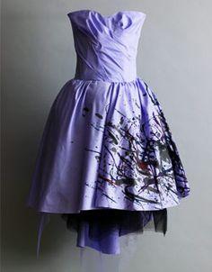 Jessica Halabi Hand painted dress Facebook.com/jessicahalabifashion