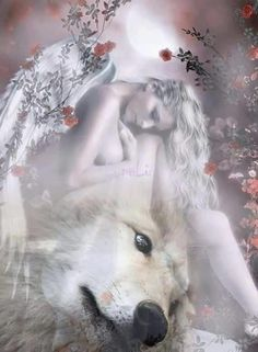 Lady Wolf Acrylic Print by Shannon Maer Wolf Spirit, Spirit Animal, Fantasy Wolf, Fantasy Art, Neck Tatto, Galaxy Wolf, Wolves And Women, Wolf Artwork, Mosaic Animals
