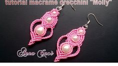 "Tutorial macramè orecchini ""Molly""/Tutorial macramé earrings ""Molly""/Diy..."