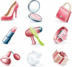 daily cosmetics 03 vector