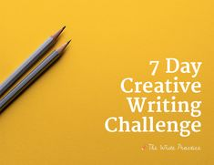 The 7 Day Creative Writing Challenge will help you kickstart a daily habit of writing. If you want to write a book, create a blog, or even just spend more time writing creatively, this is the challenge for you.