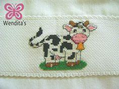Crossstitch cute cow