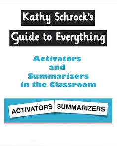 The US Digital Literacy site provides my favorite definitions of activators and summarizers. Depth Of Knowledge, Professional Development For Teachers, Middle School Ela, Digital Literacy, Instructional Strategies, Library Lessons, Lesson Planning, Librarians, Education College