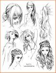 hair style sketches by Tsvetka