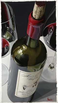"""Thomas Arvid wine art, """"It's a Sure Win"""" limited edition print on canvas at Art Leaders Gallery. Browse Thomas Arvid's complete collection online: artleaders.com 