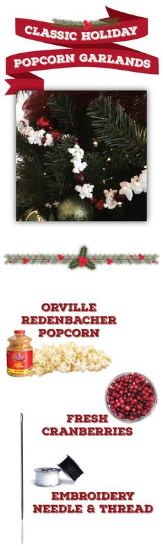 6 holiday decorations that really pop | easy DIY popcorn decorations | how to make popcorn garland