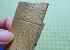 How to sew great leather/pleather straps, from bag-making expert, Lisa Lam.