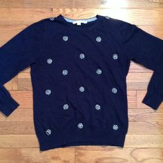 Boden blue embellished sweater GUC sz 10 GUC no issues Boden Sweaters Crew & Scoop Necks