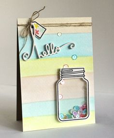 Card by SPARKS DT Alice Wertz PS stamp set: Crystal Clear; PS dies: Crystal Clear 1 & 2