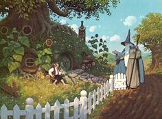 """Greg and Tim Hildebrandt made their careers painting Tolkien's world: """"In a hole in the ground there lived a hobbit."""""""