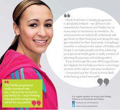 Vitality ambassador Jessica Ennis