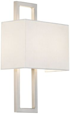 ** possible sconce Possini Euro Brushed Steel Rectangular Wall Sconce - #EUR8144 - Euro Style Lighting