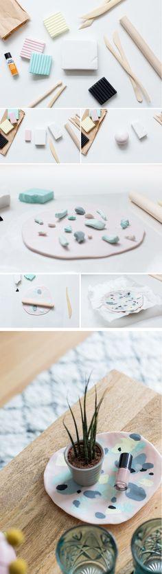 DIY Polymer Clay Coffee Table Tray | @fallfordiy